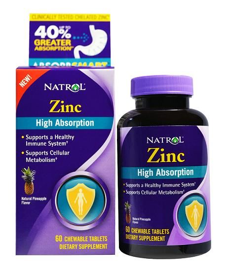 Zinc High Absorption Natrol (60 жев таб)