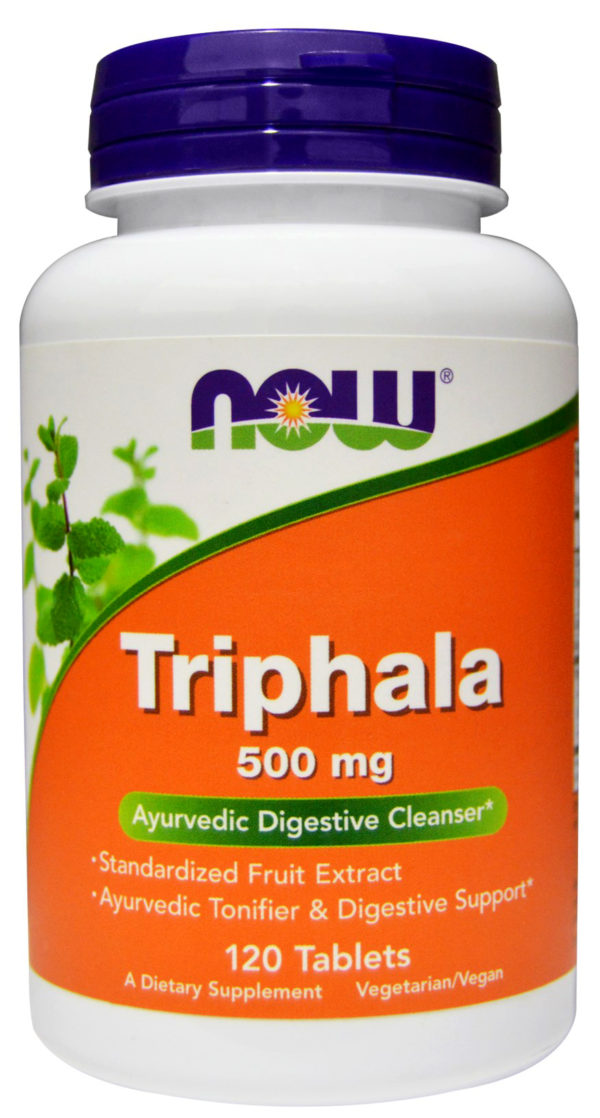Triphala 500 mg NOW (120 таб)
