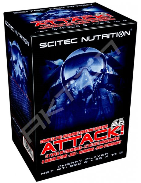 ATTACK! 2.0 SCITEC NUTRITION (25 пак по 10 гр)