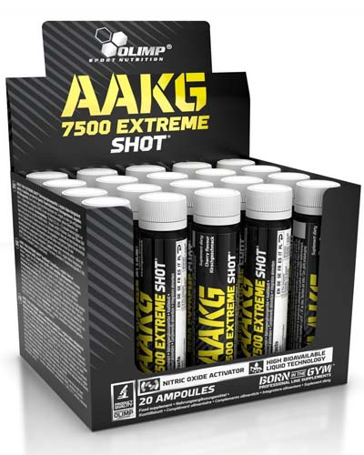 AAKG 7500 EXTREME SHOT (20 amp x 25 ml)