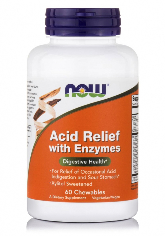 Acid Relief with Enzymes NOW (60 tab)