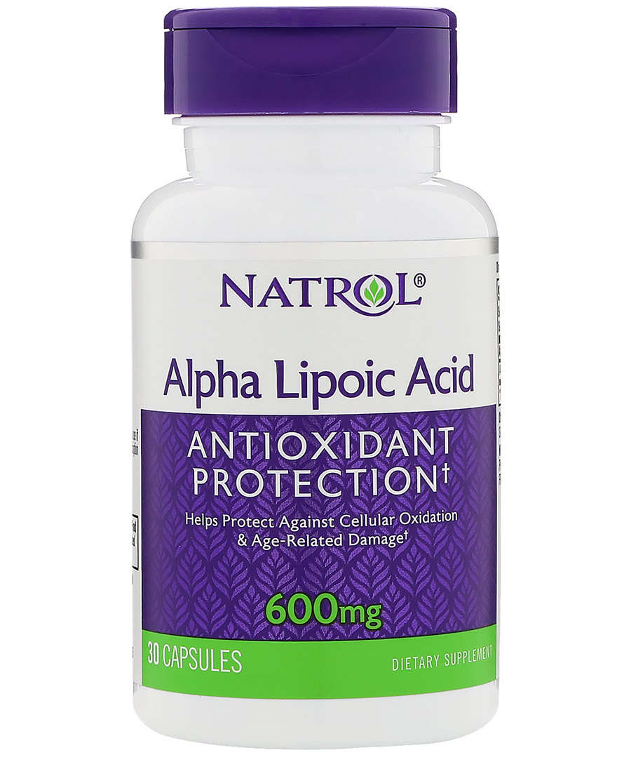 Alpha Lipoic Acid 600 mg Natrol (30 кап)