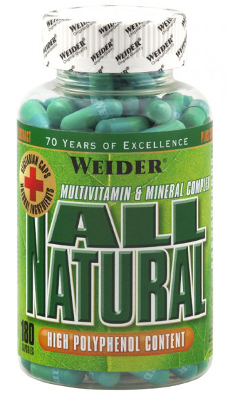 All Natural (Green caps) Weider (180 cap)