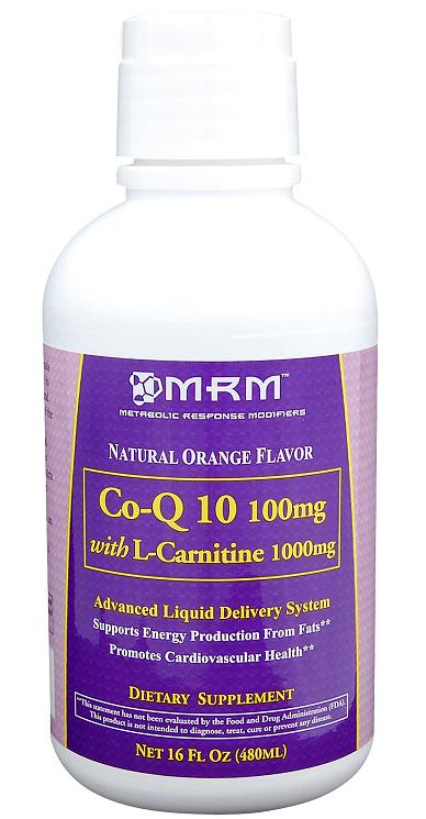 Co-Q10 100 mg with L-carnitine 1000 mg MRM (480 ml)