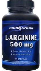 L-Arginine 500 mg BodyStrong (90 gel caps)