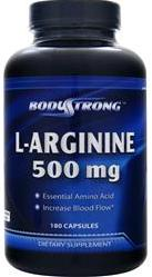 L-Arginine 500 mg BodyStrong (180 gel caps)
