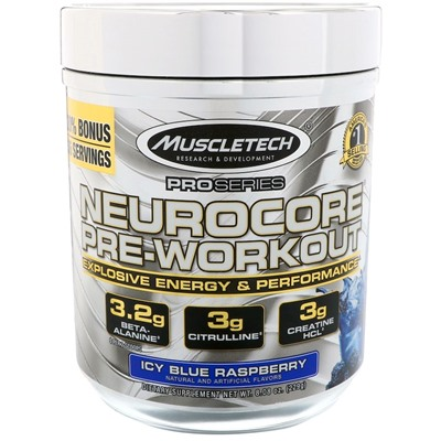 NeuroCore Pre-Workout MuscleTech (215-224 gr)