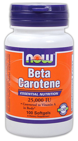 Beta Carotene 25000 IU NOW (100 cap)