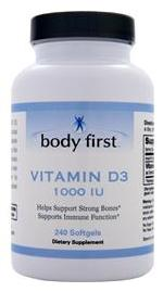 Vitamin D3 (1000IU) Body First (60 гелевых капсул)