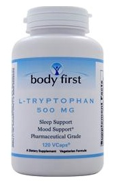 L-Tryptophan 500 mg Body First (120 вег кап)