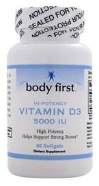 Vitamin D3 (5000IU) Body First (60 гелевых капсул)