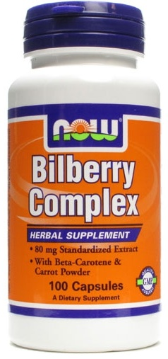 Bilberry Complex 80mg NOW (100 Capsules)