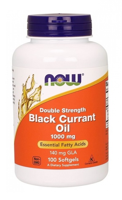 Black Currant Oil 1000 mg Double Strength NOW (100 гель кап)