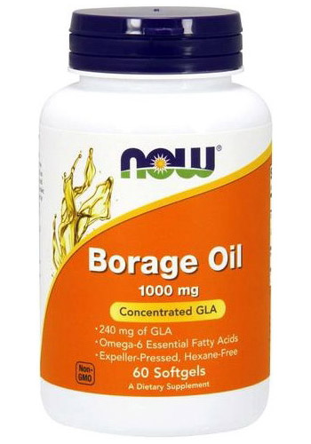 Borage Oil 1000 mg NOW (60 гелевых капсул)