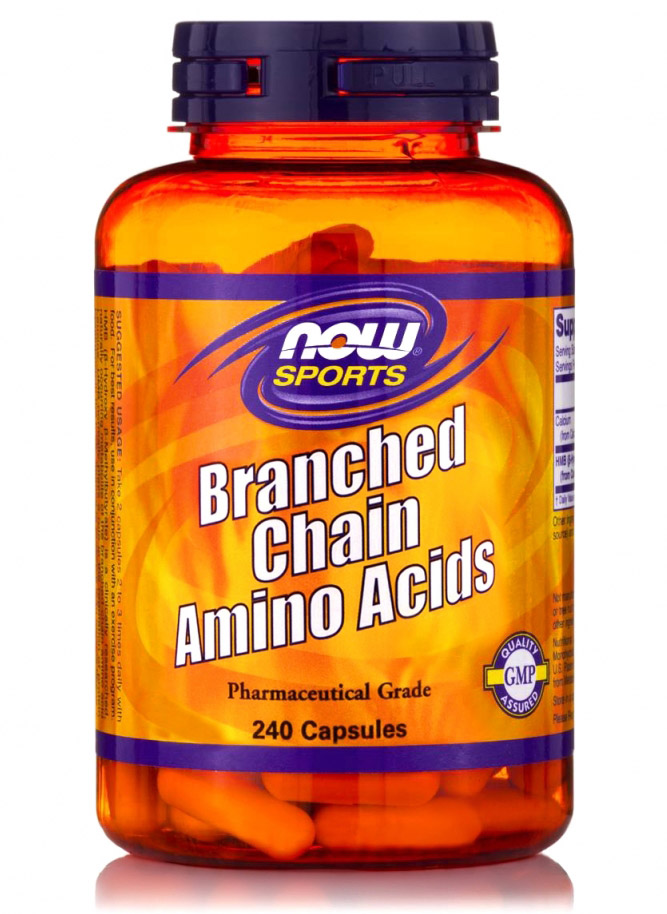 Branched Chain Amino Acids (BCAA) NOW (240 кап)