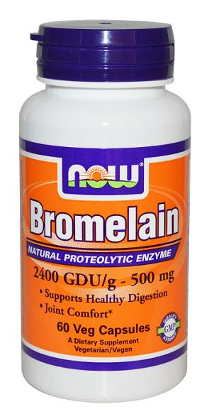 Bromelain 500 mg NOW (60 Veg Capsules)