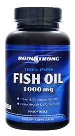 Pure Fish Oil 1000mg BodyStrong (90 гель кап)