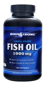 Pure Fish Oil 1000mg BodyStrong (180 гель кап)