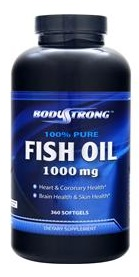 Pure Fish Oil 1000mg BodyStrong (360 гель кап)