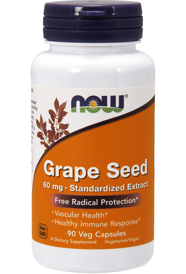 Grape Seed 60 mg NOW (90 Vcaps)