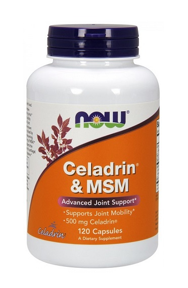 Celadrin & MSM 500 mg NOW (120 кап)