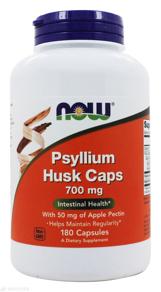 Psyllium Husk 700 mg NOW (180 капсул)