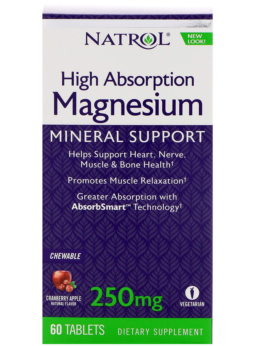 Magnesium High Absorption Natrol (60 жев таб)