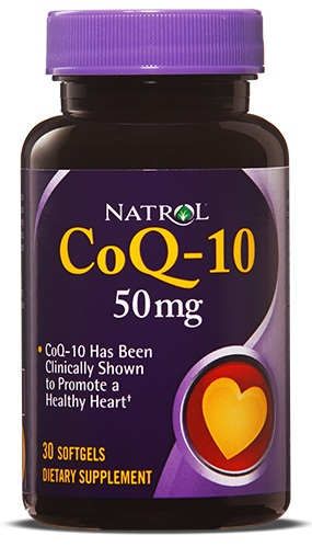CoQ-10 50 mg Natrol (30 softgels)