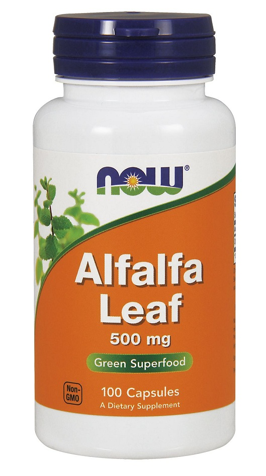 Alfalfa Leaf 500 mg NOW (100 veg cap)
