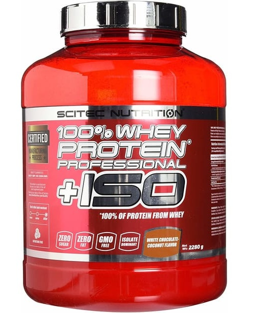 100% Whey Protein Pro + ISO Scitec Nutrition (2280 g)