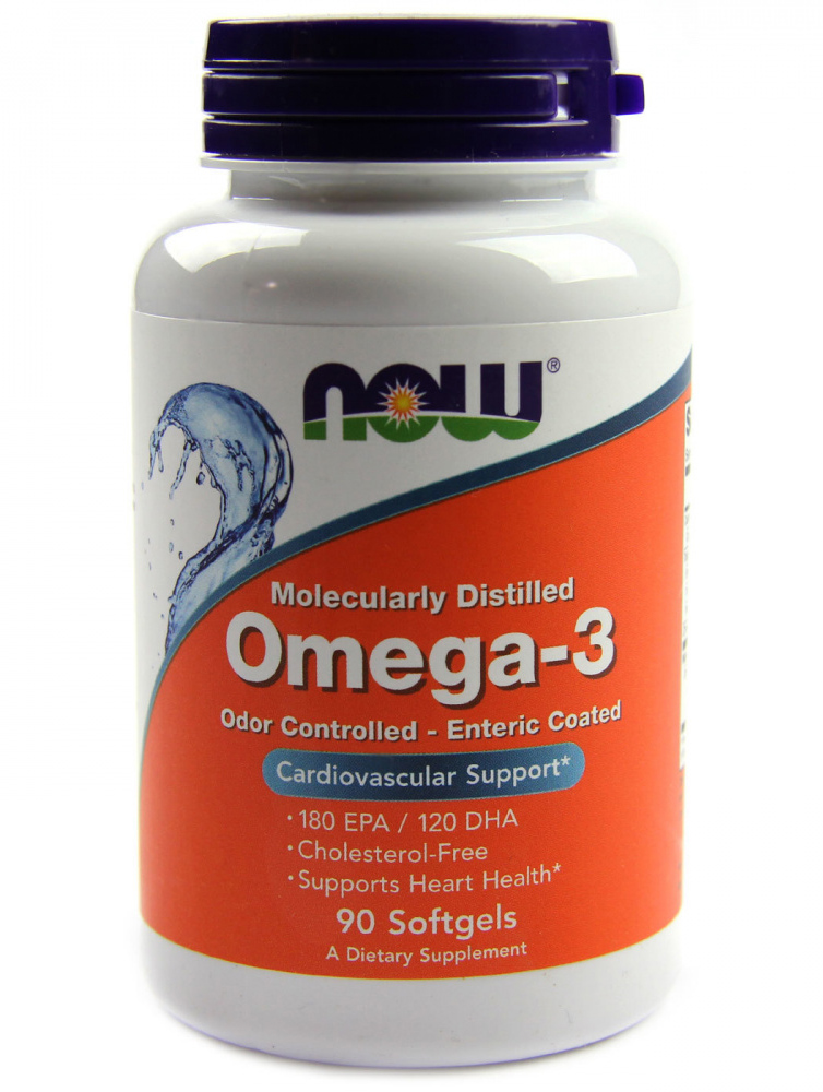Omega-3 NOW (90 гелевых капсул)