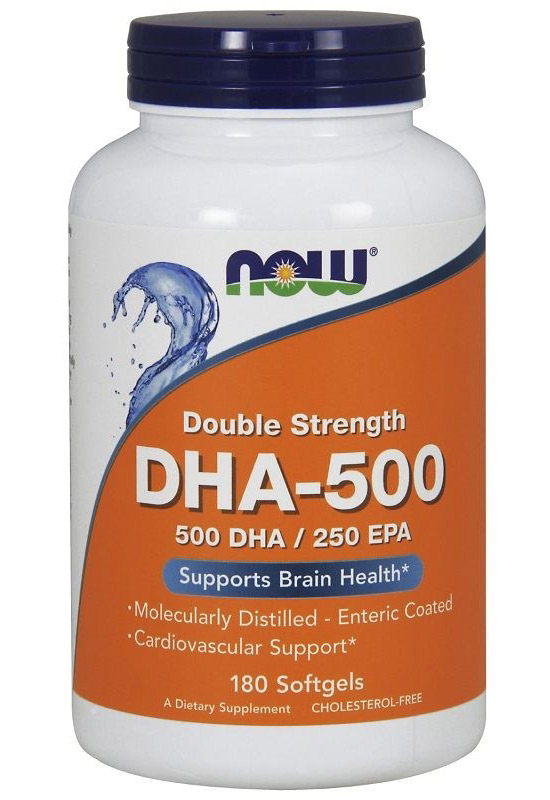 DHA-500 NOW (180 Softgels)