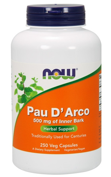 Pau D'Arco 500 mg NOW (250 кап)