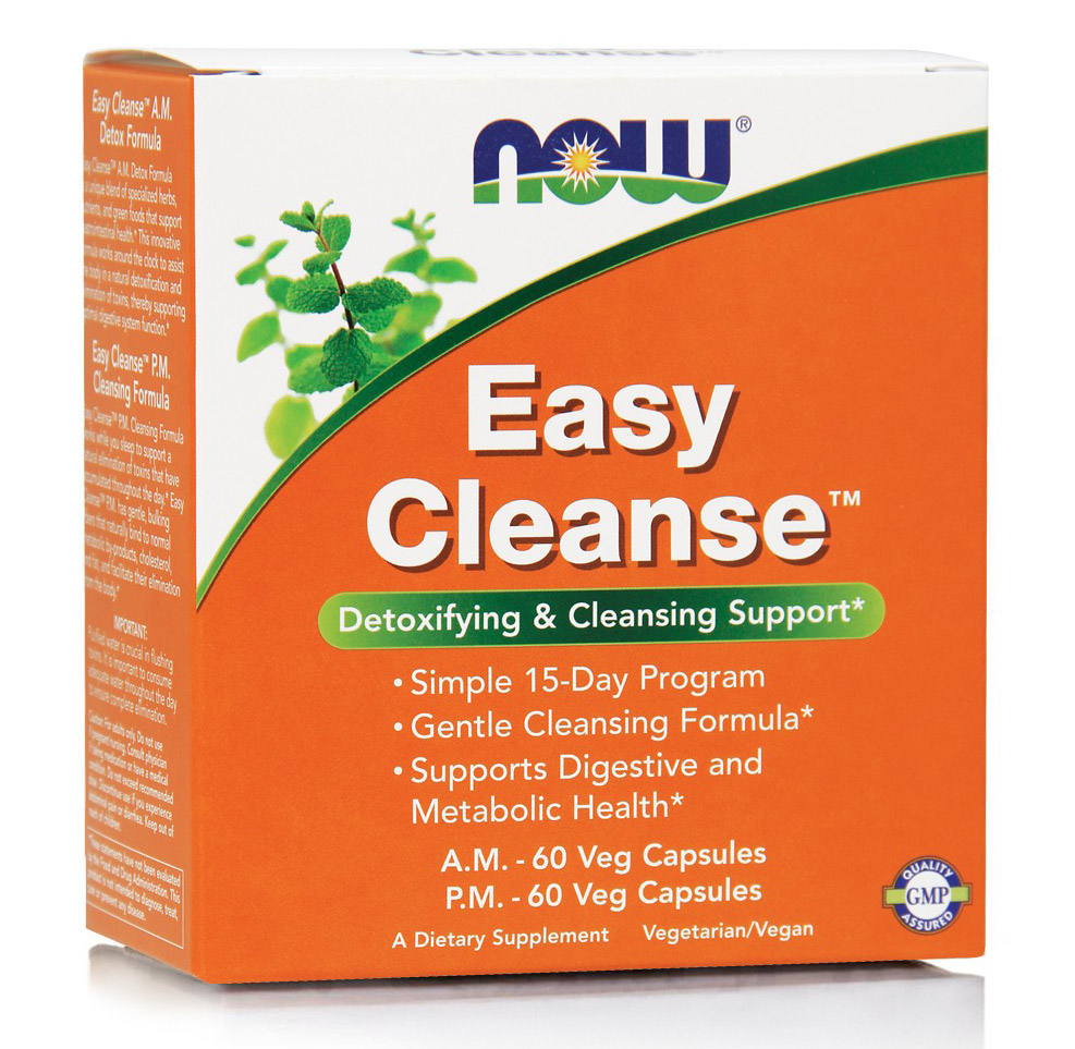 Easy Cleanse A.M. + P.M. NOW (60+60 Vcaps)