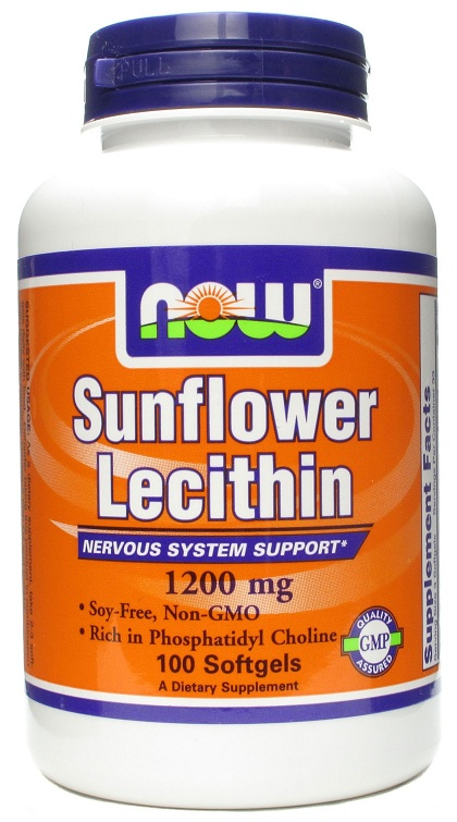 Sunflower Lecithin 1200 mg Soy-Free, Non-GMO (100 softgels)