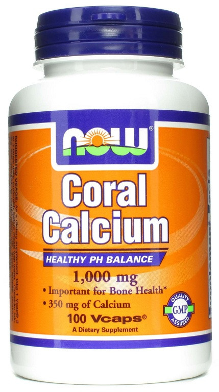 Coral Calcium 1000 mg NOW (100 Veg Caps)