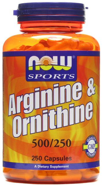 Arginine 500 mg / Ornithine 250 mg NOW (250 кап)