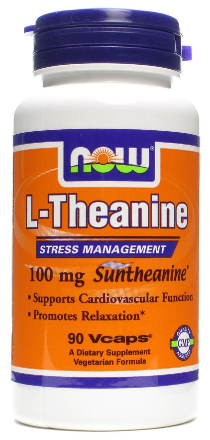 L-Theanine 100 mg NOW (90 вегетарианских капсул)
