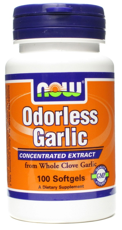Garlic (Odorless) NOW (100 Softgels)