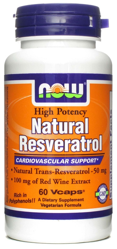 Natural Resveratrol NOW (60 Veg Capsules)