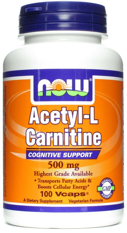 Acetyl-L Carnitine 500 mg NOW (100 вег кап)