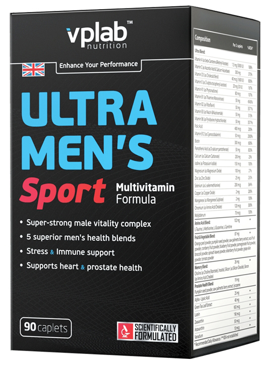 Ultra Men's Sport Multivitamin Formula VPLab Nutrition (90 кап)