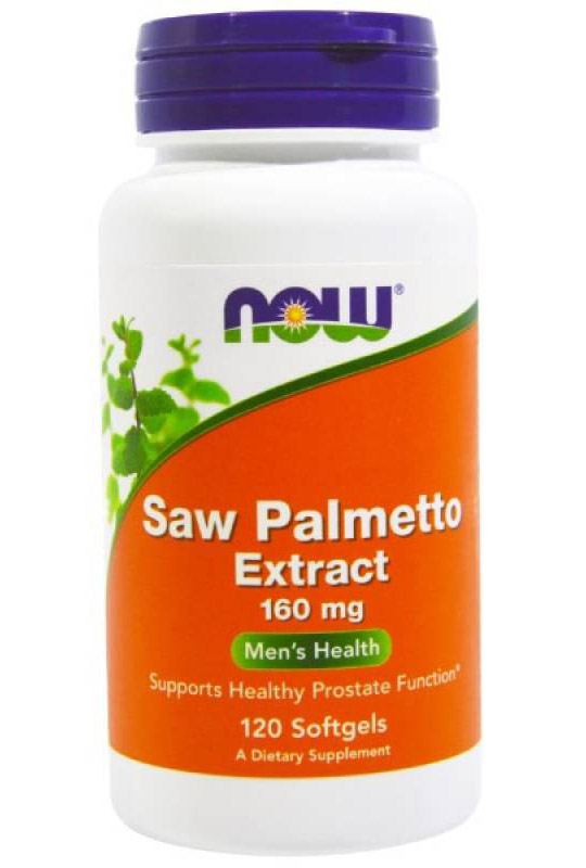 Saw Palmetto Extract 160 mg NOW (120 Softgels)(EXP 02/2020)