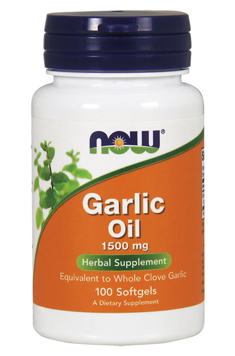 Garlic Oil 1500 mg NOW (100 гелевых капсул)