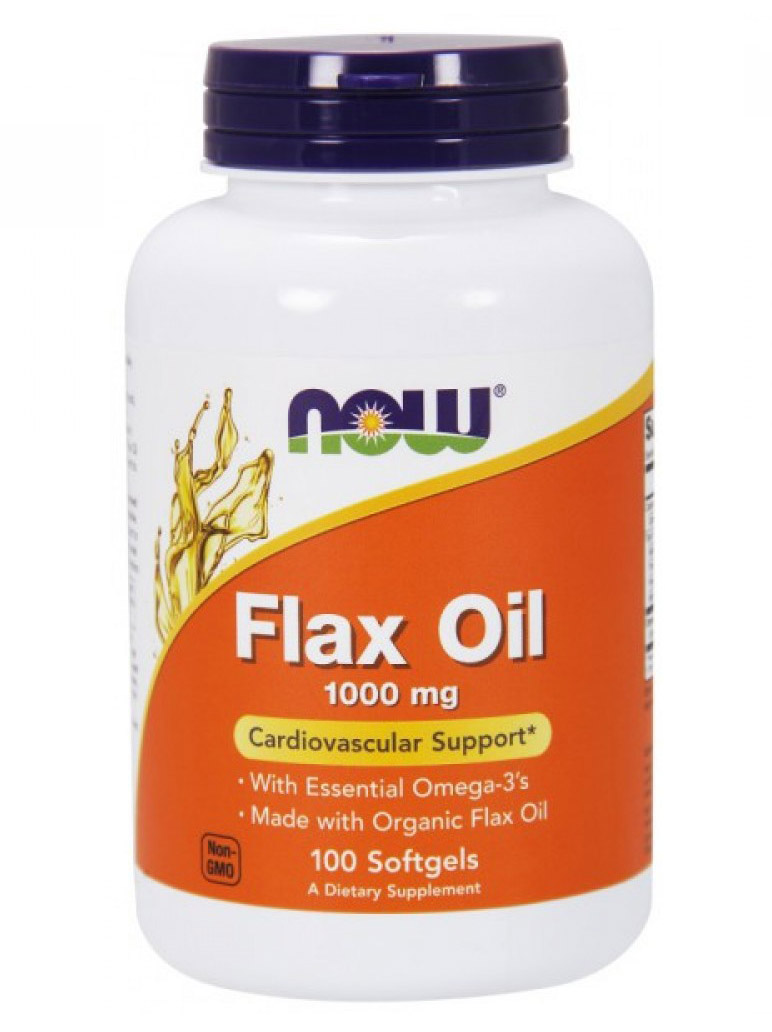 Flax Oil 1000 mg NOW (100 гелькап)