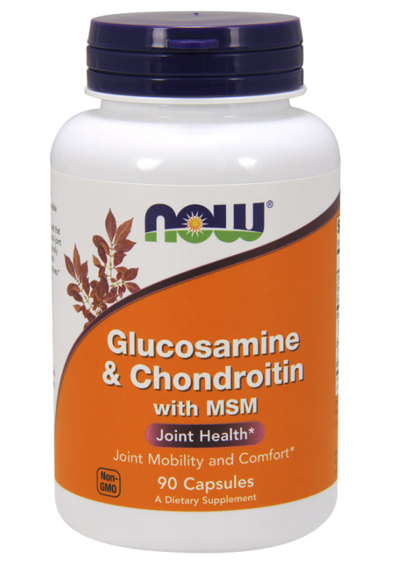 Glucosamine & Chondroitin with MSM NOW (90 кап)