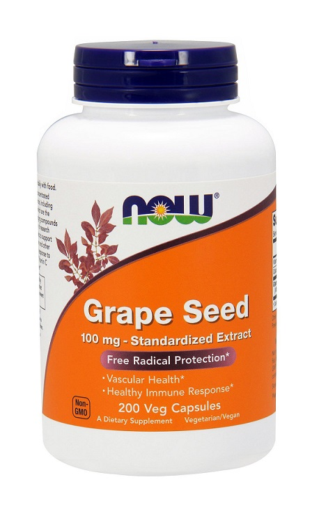 Grape Seed 100 mg NOW (200 Vcaps)