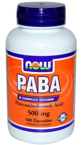 PABA 500 mg NOW (100 cap)