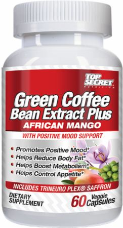 Green Coffee Bean Plus African Mango Top Secret Nutrition (60 ca