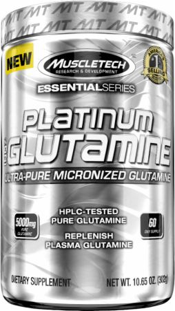 100% Platinum Glutamin Muscle Tech (300 гр)